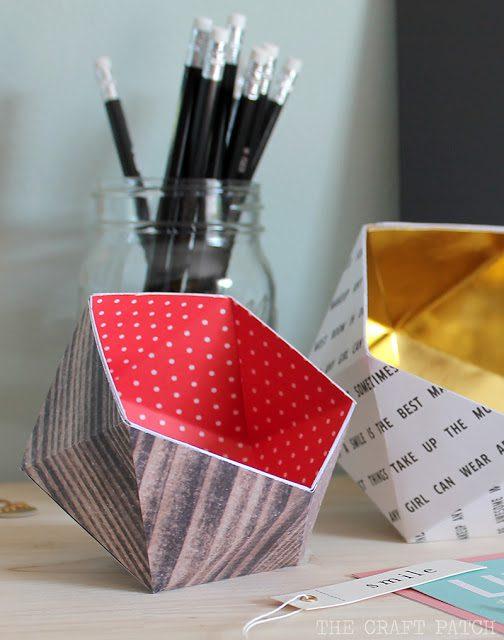geometric paper bowls 7