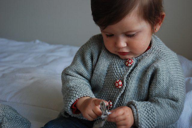 strikkede barnejakker