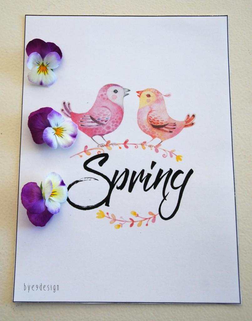 Hello Spring - Spring - digital download - print - bye9design