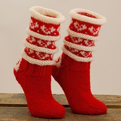Julesokk- sokkestrikk til kalde dager