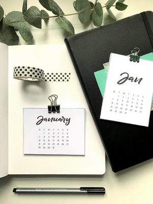 Kalender 2019 for Project Life og planleggere