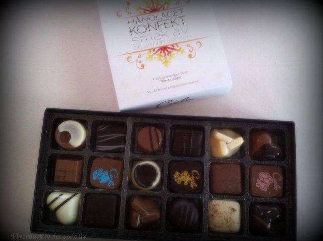 Blomster og sjokolade