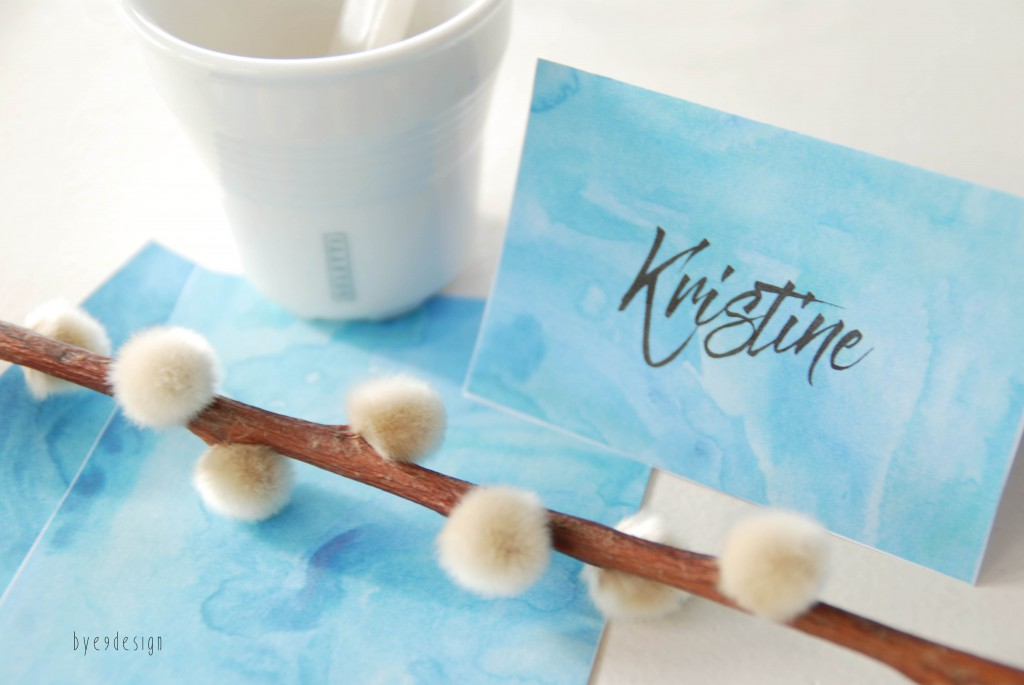 blå bordkort - bordkort - nordic design - bye9designprintshop
