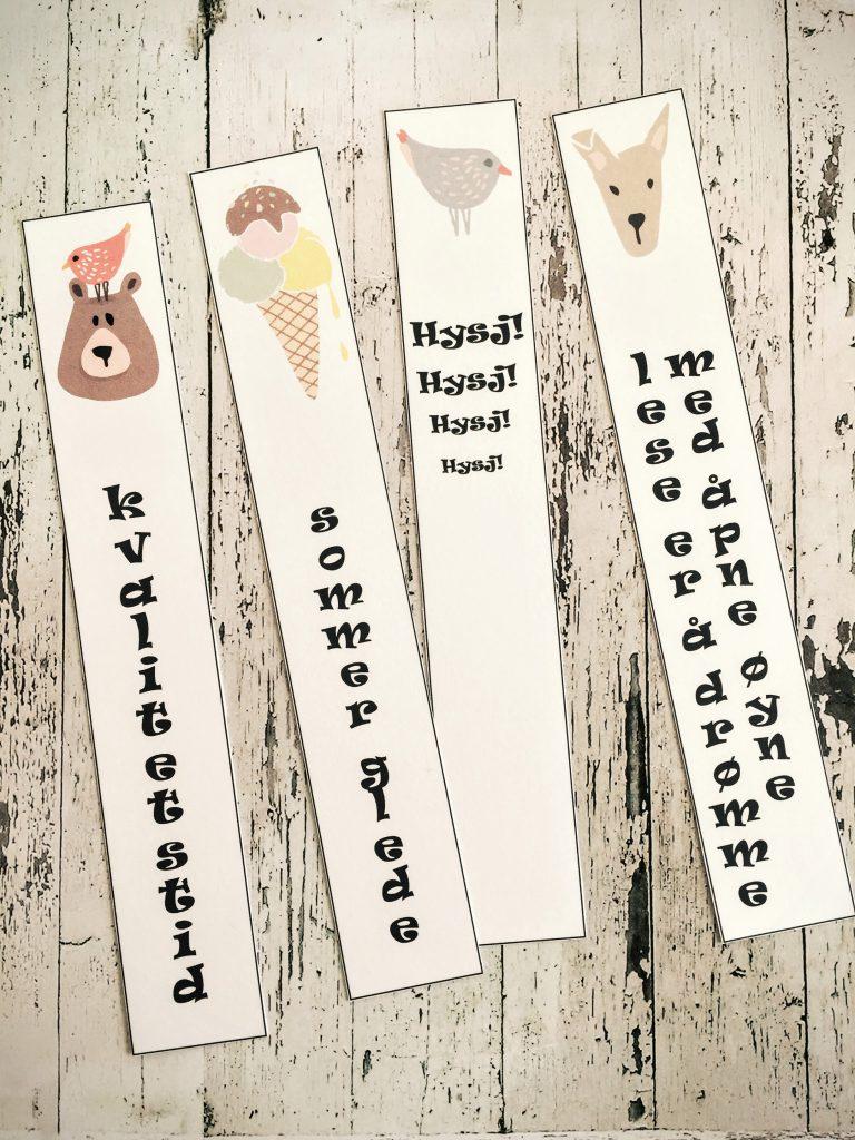 bokmermerker - digitale print - bye9design