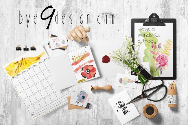 bye9design print- ressurser
