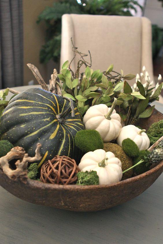 Høst - pynt bordet med gresskar