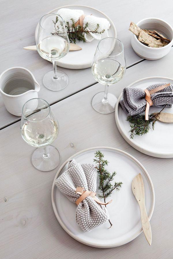 Julepyntede bord