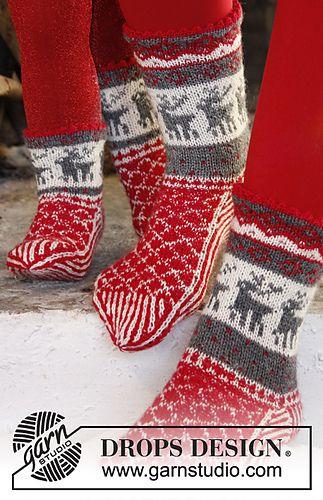 Drops julesokker - sokkestrikk til kalde dager