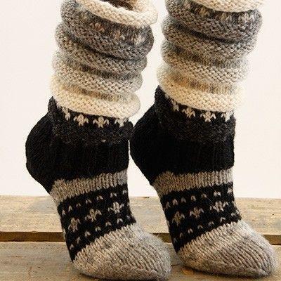 Fjellsokken- sokkestrikk til kalde dager