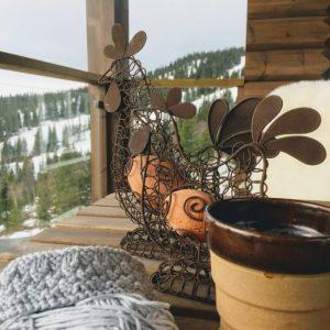 Strikke glede på hytta i påsken