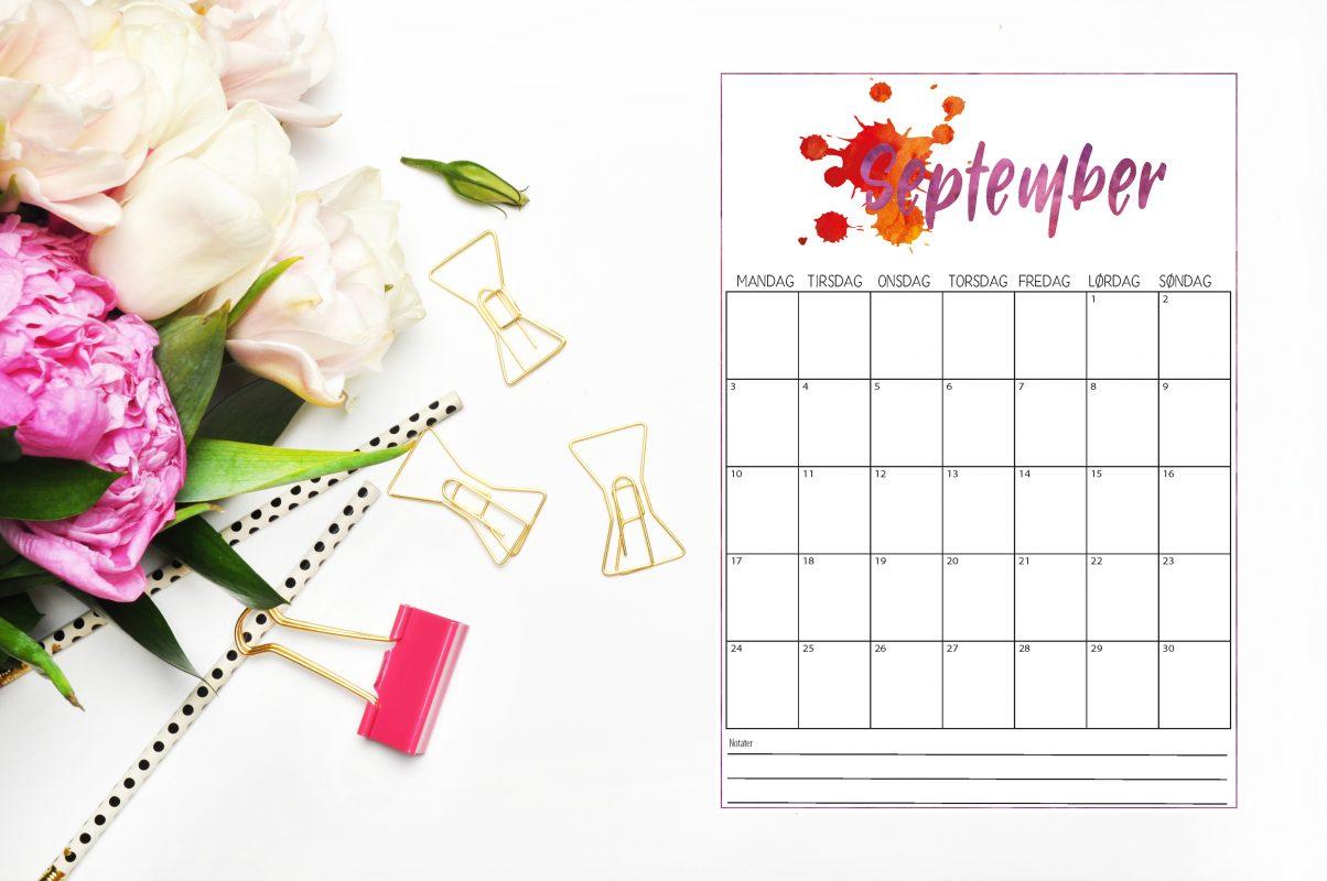 September er her med gratis kalender du kan skrive ut