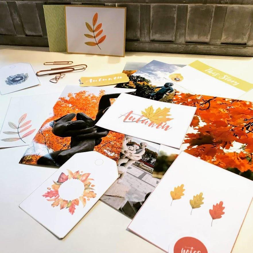 Gyldne farger og høst motiv til fotoalbumet